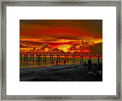 Sunset 4th Of July Framed Print by Bill Cannon