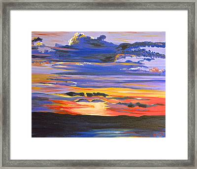 Sunset #5 Framed Print by Donna Blossom