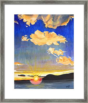 Sunset #6 Framed Print by Donna Blossom