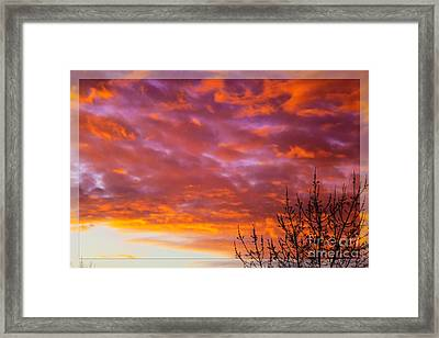 Sunset 7 Framed Print by Jean Bernard Roussilhe