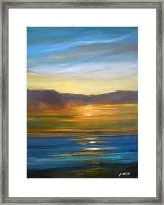 Sunset 9 Framed Print by Jeannette Ulrich