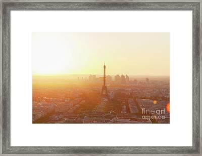 Sunset Above Paris Framed Print