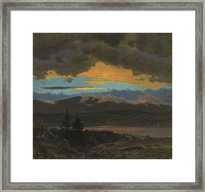 Sunset Across The Hudson Valley New York Framed Print