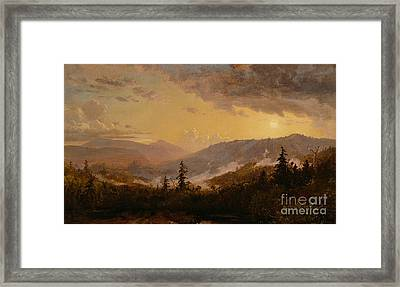 Sunset After A Storm In The Catskill Mountains Framed Print by Jasper Francis Cropsey