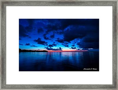 Sunset After Glow Framed Print by Christopher Holmes