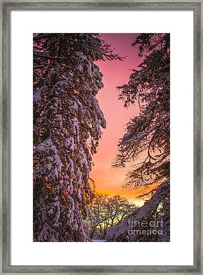 Sunset After Snow Framed Print