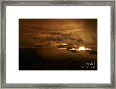 Sunset After Storm Framed Print by Michal Boubin