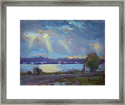 Sunset After The Rain Framed Print by Ylli Haruni