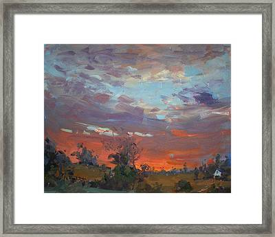 Sunset After Thunderstorm Framed Print