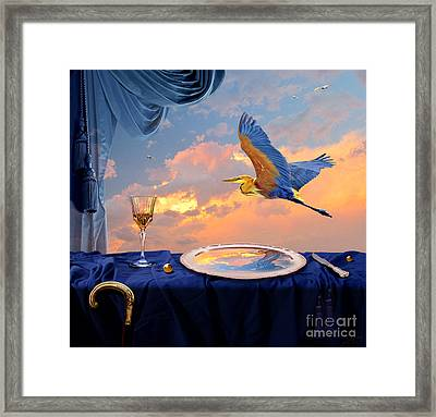 Framed Print featuring the digital art Sunset by Alexa Szlavics
