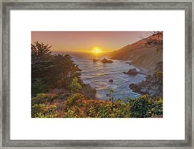 Sunset Along Highway 1 Big Sur California Framed Print by Scott McGuire