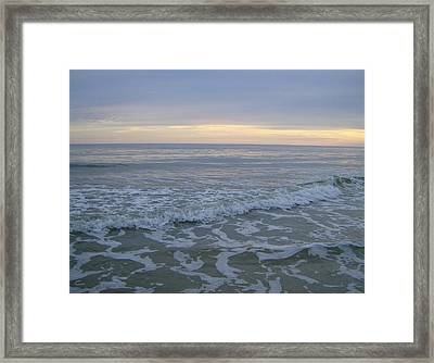 Framed Print featuring the photograph Sunset Along Oak Island by Skyler Tipton