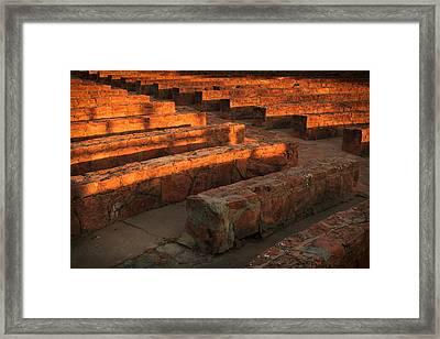 Sunset, Amphitheatre Framed Print