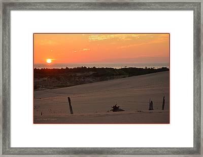 Sunset And Sand Dunes Framed Print