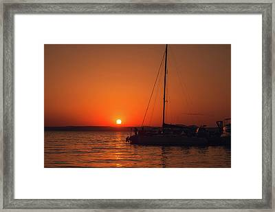 Sunset And Silhouette Framed Print