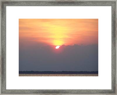 Framed Print featuring the photograph Sunset And The Storm by Sandi OReilly