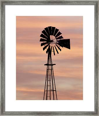 Sunset And Windmill 06 Framed Print