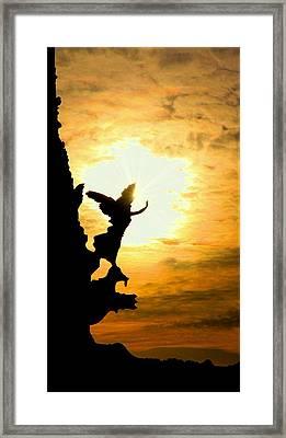 Sunset Angel Framed Print by Valentino Visentini