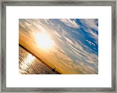 Sunset Angle Framed Print by Tom Dowd
