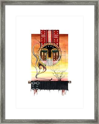 Sunset Framed Print by Anthony Burks Sr