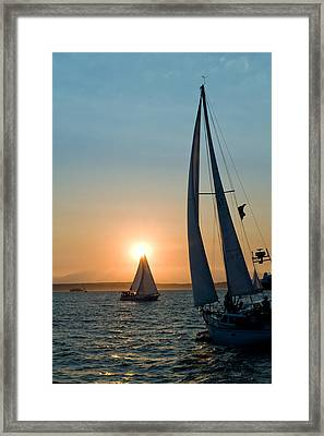 Sunset Apex Framed Print by Tom Dowd
