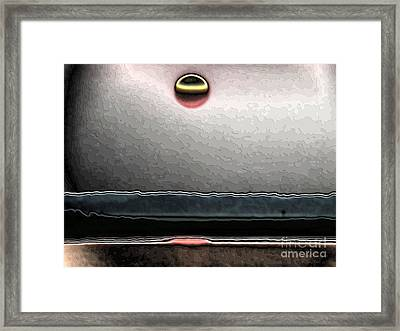 Framed Print featuring the digital art Sunset Apocalypso by Roxy Riou