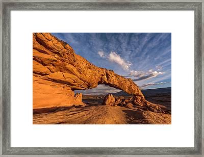 Sunset Arch Framed Print