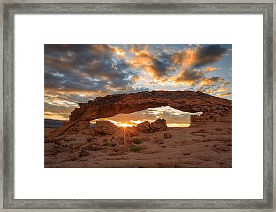 Sunset Arch Framed Print