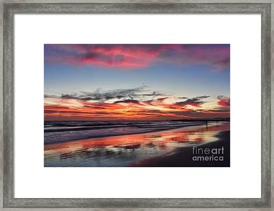 Sunset At 32nd Street Framed Print by Eddie Yerkish