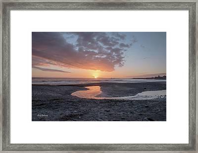 Sunset At Ano Nuevo Framed Print