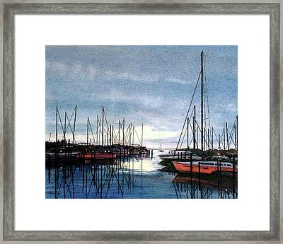 Sunset At Apollo Beach Framed Print