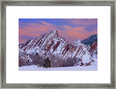 Sunset At Arrowhead Framed Print by Darren White