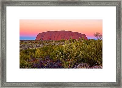 Sunset At Ayers Rock Framed Print