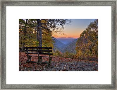 Sunset At Babcock Framed Print