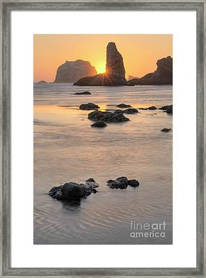 Sunset At Bandon Framed Print