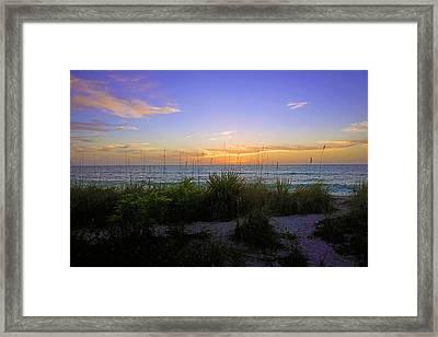 Sunset At Barefoot Beach Preserve In Naples, Fl Framed Print