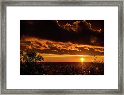 Framed Print featuring the photograph Sunset At Bay Harbor by Onyonet  Photo Studios