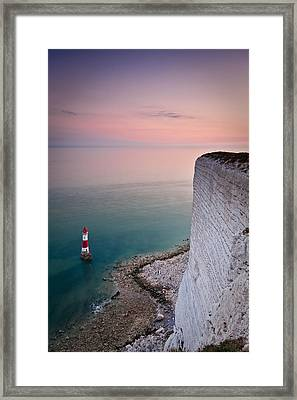 Sunset At Beachy Head Framed Print