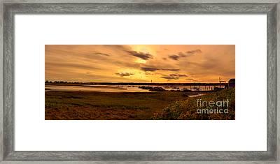 Sunset At Biddeford Pool Framed Print by David Bishop