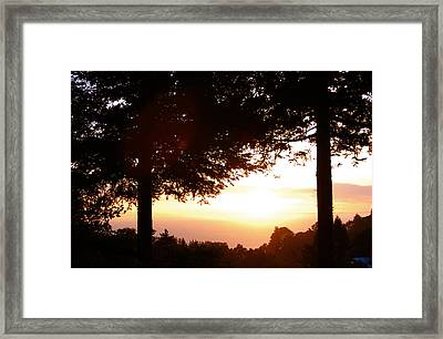 Sunset At Big Sur Framed Print