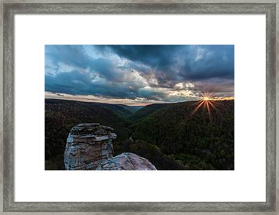 Sunset At Blackwater Falls State Park Framed Print