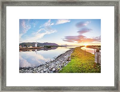 Sunset At Blennerville Framed Print