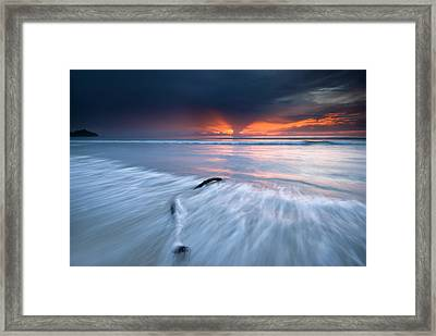 Sunset At Borneo Framed Print