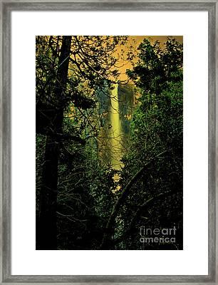Sunset At Bridalveil Fall Framed Print