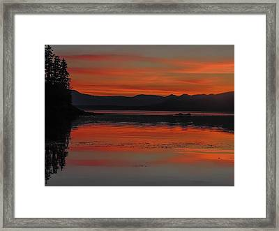 Sunset At Brothers Islands Framed Print