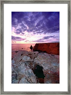 Sunset At Cabo Rojo Framed Print by George Oze