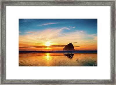 Sunset At Cape Kiwanda Framed Print