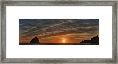 Sunset At Cape Kiwanda Framed Print