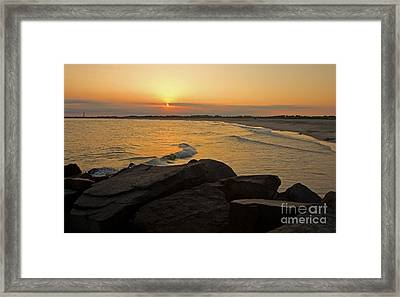 Sunset At Cape May Framed Print