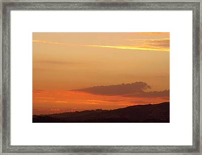Sunset At Carbon Canyon Framed Print